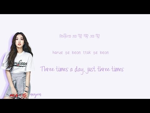 TWICE - Three Times A Day Musics (하루에 세번) Han Rom Eng Color Coded