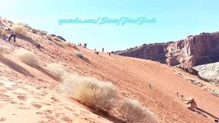 Multiple Backflips in a row down Steep sand mountain