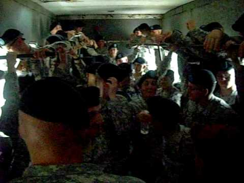 Getting on the Cattle truck MP AIT Fort Leonard Wood - YouTube
