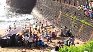 Shooting of an Indian Movie Song by the beach in Goa