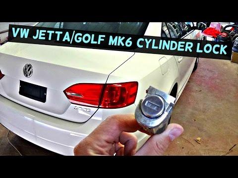 VW JETTA MK6 DOOR LOCK CYLINDER REMOVAL REPLACEMENT   VW GOLF MK6