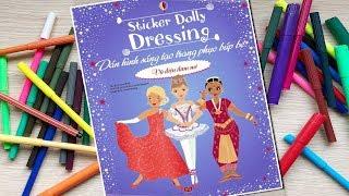 Đồ chơi dán hình trang điểm váy đầm búp bê -Tập 18 Vũ điệu đam mê -Sticker Dolly Dressing Chim Xinh