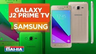 Smartphone Samsung Galaxy J2 Prime TV Dourado com 16GB | Casas Bahia