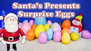 SURPRISE EGGS Santa Christmas Surprise Eggs TheEngineeringFamily Surprise Egg Video