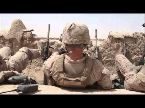 U.S. Marines Scout Snipers Combat Firefight Footage - 2015 Afghanistan