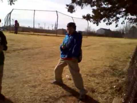 Thomas and Jaden mess around at Taft Middle School Oklahoma