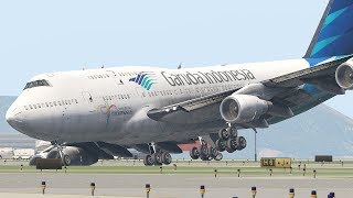 Boeing 747 Lost Control Of Brake During Emergency Landing (HD) | X-Plane 11