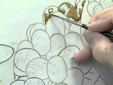 Linda Wise's translucent grape technique using the