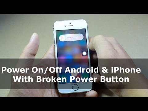 How to Power On/Off Android & iPhone With Broken Power Button