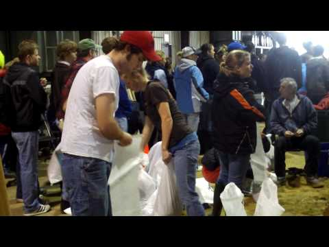Red River Flood (March 2009): Building Sandbags in Fargo