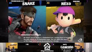 Smash Ultimate Tournament 1/18/19 - T-Rex(Snake) Vs Daktyl(Ness). - Round Robin