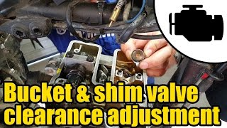 Adjusting bucket & shim type valve clearance #1158