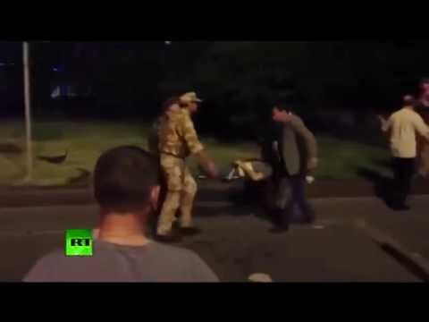 Assassination Attempt Blast targets self proclaimed E Ukraine leader car