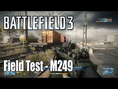 Battlefield 3: Fat Assassin - M249, Suppressor, Acog Scope - Field Test