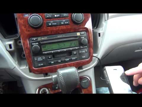 GTA Car Kits - Toyota Highlander 2001-2007 install of iPhone. iPod. iPad and AUX adapter