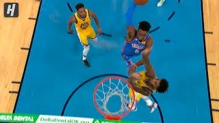 Hamidou Diallo POSTERIZES Marquese Chriss - Warriors vs Thunder | November 9 | 2019-20 NBA Season