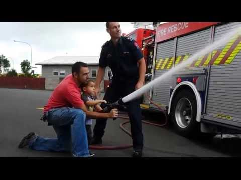 Squirting the Hoses @ Avondale Fire Station - Dads and Boys Visit