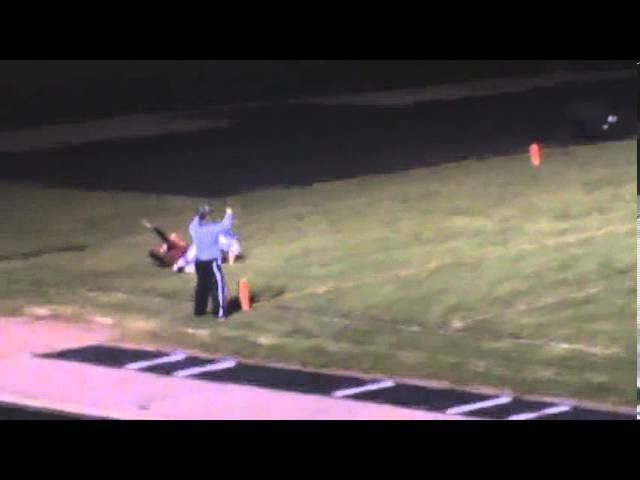 10-11-13 - 21 yards on the TD pass from Kyle Rosenbrock to Jake Brown (Brush 40, Valley 0)