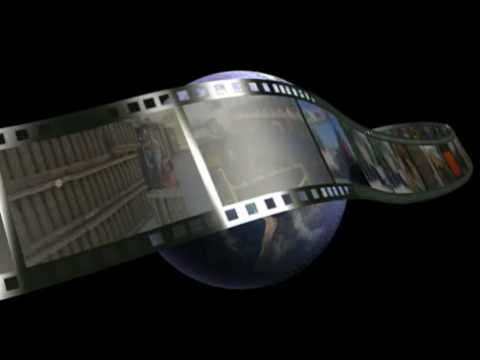 Globe and Filmstrip 3D animation