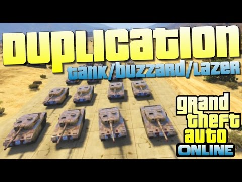 Duplication infini TANK / BUZZARD / LAZER - GTA 5 ONLINE 1.24 / 1.26