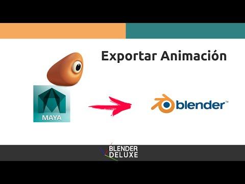 Exportar animación de Maya a Blender