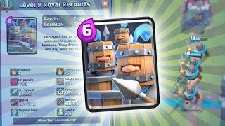 NEW CARD ROYAL RECRUITS ARE HERE! | Clash Royale | NEW GOLEM DECK HIGH LEVEL GAMEPLAY!