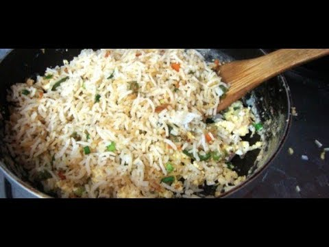 Egg Fried Rice In Telugu  WITHOUT ADDED MASALA