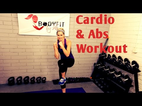 20 Minute Cardio and Abs Workout ---No Equipment Workout to Burn Fat and Tighten Abs