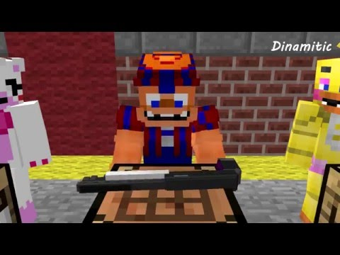 FNAF Monster School: Creating Weapons - Minecraft Animation (Five Nights At Freddy's)