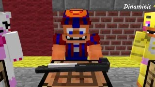 FNAF Monster School: Creating Weapons - Minecraft Animation (Five Nights At Freddy