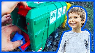 Bruder and Tonka Recycling Trucks