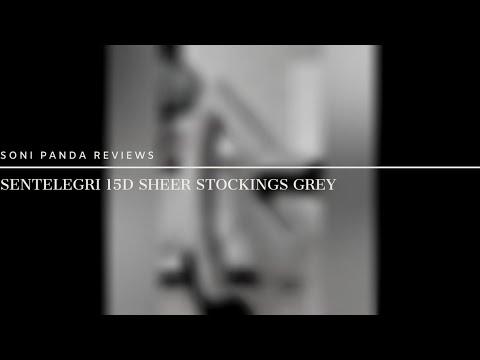 Sentelegri 15D Sheer Stockings Grey Close Up