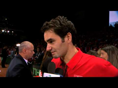 Roger Federer (SUI) after winning Davis Cup for the first time