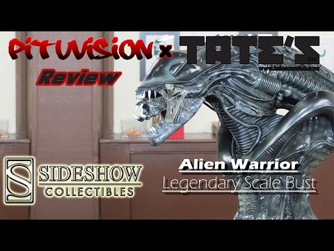 Sideshow Collectibles Alien Warrior Legendary Scale Bust Video Review @ TATE'S Comics