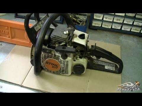 HOW TO - Carburetor & Fuel Line Repair on STIHL 017. MS170. 018. M180 Chainsaw Part 1/3