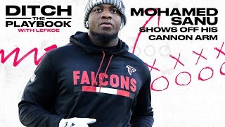 Falcons WR Mohamed Sanu Throws Farther Than 28 Starting NFL QBs | Ditch the Playbook S1E1