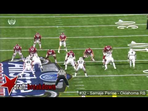 Samaje Perine Oklahoma Rb Vs Auburn 2016