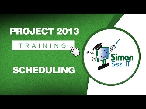 Microsoft Project 2013 Tutorial - Scheduling