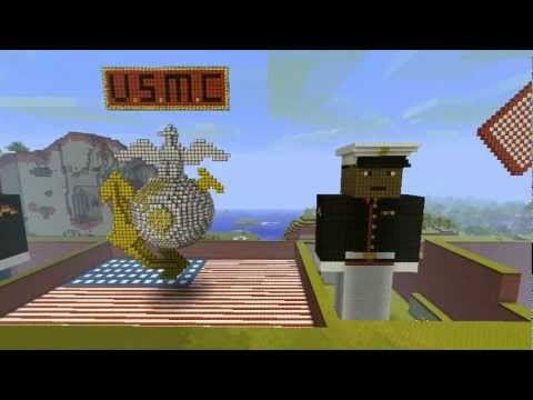 Minecraft creations our dedication to the u s marine corps hd