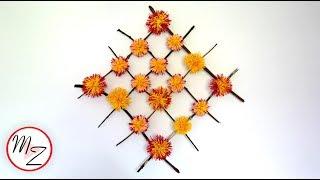 WALL DECORATION IDEAS: DIY HANGING PAPER FLOWER HOME DECOR | MAISON ZIZOU