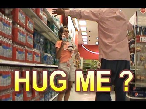 HUGGING STRANGERS - Hidden Camera Stupidity