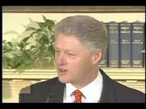 President Bill Clinton - Response to Lewinsky Allegations