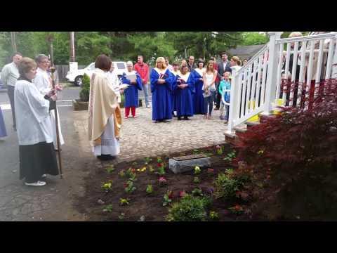 Adelaide Sickles Memorial Garden blessing