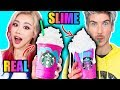 Lagu Making FOOD Out Of SLIME!!! Learn How To Make DIY Slime Food VS Real Edible Candy Food Challenge