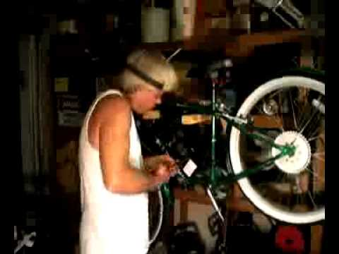 Installing a 66cc motor on a bicycle Part 1
