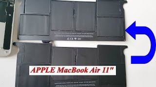 "APPLE MacBook Air 11"" замена аккумулятора replace the battery A1465 ( 2012 ), A1370 ( 2011 ) A1406"