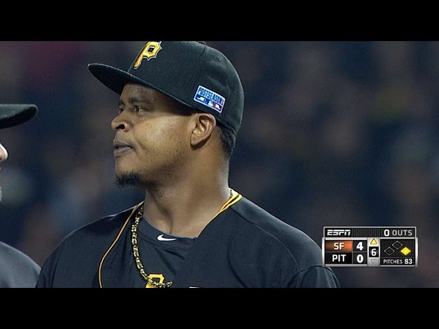 NL WC: Volquez strikes out three over five-plus