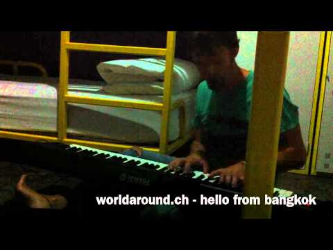 im not alone, me myself and my piano…hello from bangkok