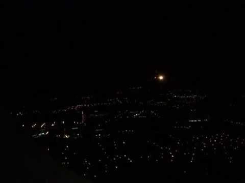 Aterrizando en San Jose Costa Rica de noche LACSA LR627