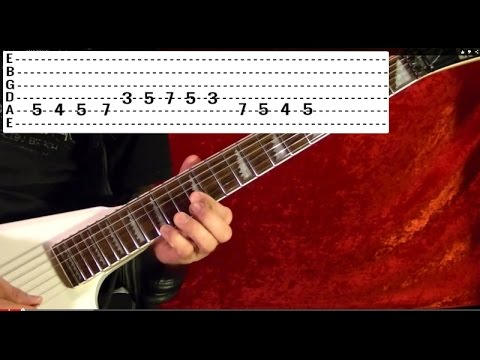 Free Online Guitar Lessons - How to Play DON'T FEAR THE REAPER Solo by BLUE OYSTER CULT ( With Tabs)